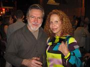 Art gallery owner Dominck Cardella with Michelle Galler of Sotheby's.