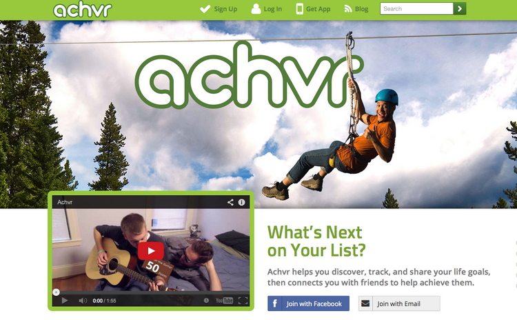 "Among the list of Boston-based social networks is Achvr, which allows users to ""achieve happier lives"" by keeping track of and sharing first-time experiences and milestones."
