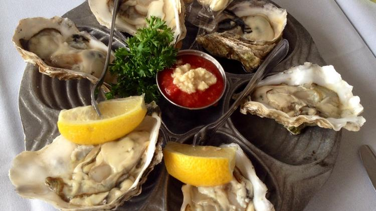 A romantic evening is not complete without oysters