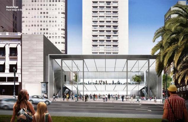 Apple's proposed Union Square store.