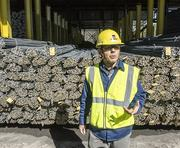 Gerdau Steel Jacksonville Vice President and General Manager Carlos Zanoelo speaks about the plant's annual rebar capacity on a tour recently.