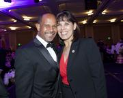 Intel external affairs manager  Leroy Tripette and Sacramento Hispanic Chamber of Commerce CEO Alice Perez, CEO Hispanic Chamber of Commerce pose at the Sacramento Metro Chamber awards.