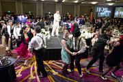 A flash mob dances at the Sacramento Metro Chamber dinner and awards, to the surprise of guests.