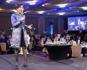 Rep. Doris Matsui speaks at the Sacramento Metro Chamber dinner and awards.