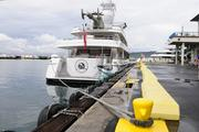Paul Allen's 199-foot yacht, Meduce, is seen in port at Honolulu Harbor.