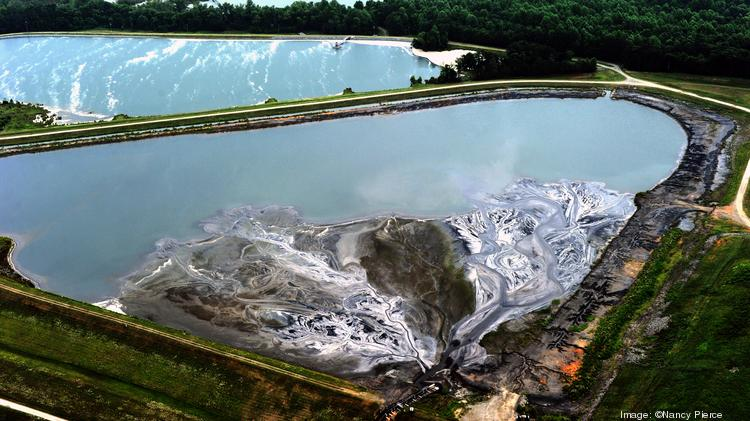 The coal ash ponds at Riverbend are a few miles upstream from Charlotte's main water supply.