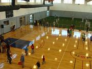 The Memphis Kroc Center's gymnasium has lots of room for multiple basketball games.
