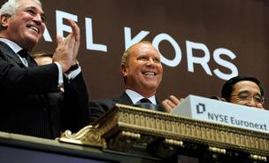 Designer Michael Kors, shown here in 2011 when his company went public, recently became a  billionaire.