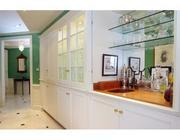 A wet bar at the 2,809-square-foot unit at Rowes Wharf.