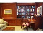 This unit at Rowes Wharf features a cherry wood study.