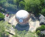 The Philadelphia Zoo said Tuesday that snow from earlier storms destroyed its popular ZooBalloon. It's being taken out of commission. It had been a feature at the Zoo since June 2002. (File photo.)