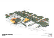 A side view of one of the potential layouts of the complex