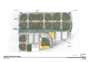 One of the proposed layouts of the future sports complex