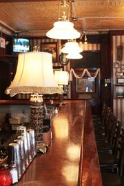 The bar area at the Jury Room. Happy hour is from 3 p.m. to 7 p.m. Monday through Friday.