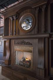 A hand-crafted fireplace stands in the rear of Marshall Free House, a British-style gastropub that's been in the works for the past two years off Battleground Avenue in Greensboro.