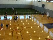 The Memphis Kroc Center's gymnasium also features an indoor soccer & lacrosse area.