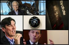 Click through the slideshow to learn more about the upstarts, entrepreneurs and executives who made news this month (and why), including Tom Perkins (top left), Beats by Dre (top right), Tim Armstrong (bottom left), John Legere (bottom right) and Nest (center).