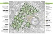 Portland Avenue site plan from Ball State University and Purdue team in ULI competition.