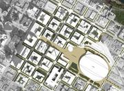 Connec+ Minneapolis site plan from Harvard team in the ULI urban design competition.