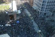 A photo taken from the Seattle Public Library shows the size of the crowd at Fourth and Madison watching the Seattle Seahawks championship parade on Wednesday in downtown Seattle. The crowd was estimated at 700,000.