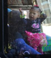 On the Seahawks family bus this girl was decked out in #29 Earl Thomas outfit. Seattle police early on estimated that more than 700,000 people turned out of the Seahawks Super Bowl victory parade on 4th Avenue in downtown Seattle.