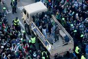 Seattle police early on estimated that more than 700,000 people turned out of the Seahawks Super Bowl victory parade on 4th Avenue in downtown Seattle.