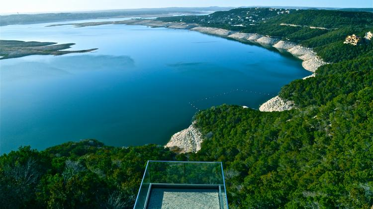 Recent rain added a foot or two to Lake Travis but the drought is still very much in effect and apparent.