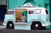 Yes, that is a Volkswagen mini-bus converted into an outdoor drink station. Why? Because 200 brands of tequila.