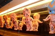 One of the more interesting artistic offerings was a wall of painted plastic babies.