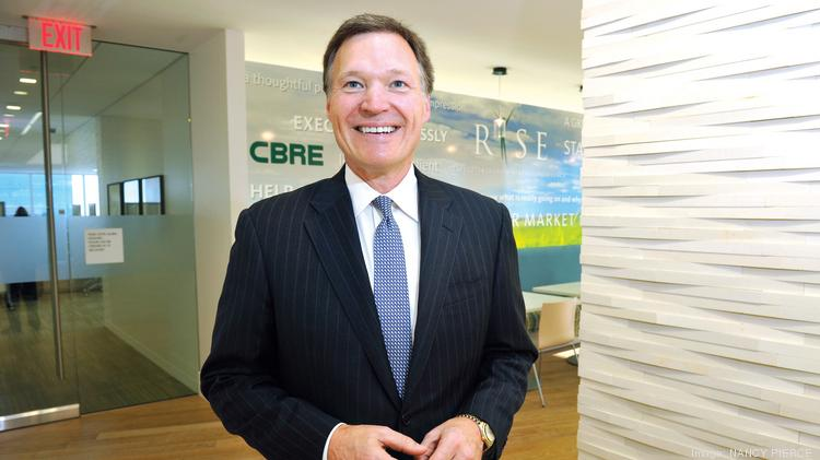 Curt Grantham at CBRE's  Charlotte Plaza office.