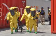 The team returns after detecting sarin.