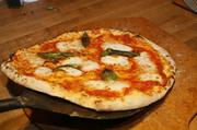 9. This results in a pizza with that has an airy crust with a charred exterior and chewy interior.