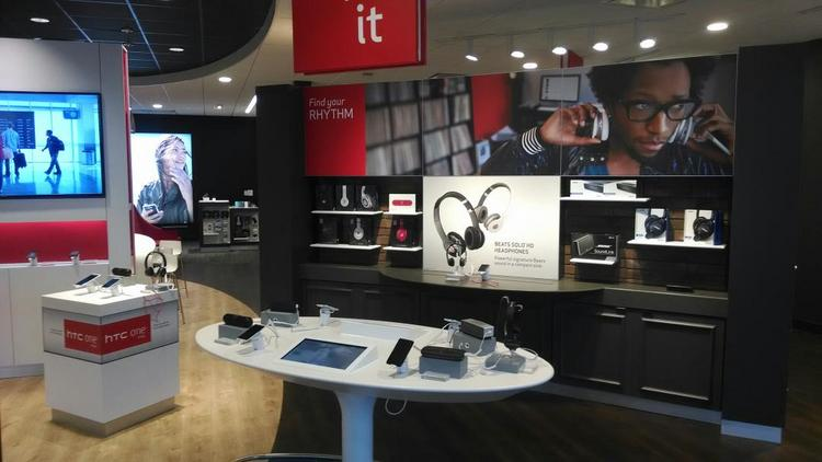 Verizon Wireless opened its new store format, called a Smart Store, includes an Amplify It zone with gadgets for taking music on the go.