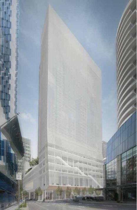 R.C. Hedreen Co. plans to build a 43-story hotel in downtown Seattle.
