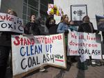 Coal spill sparks protest outside Duke Energy's HQ in Charlotte