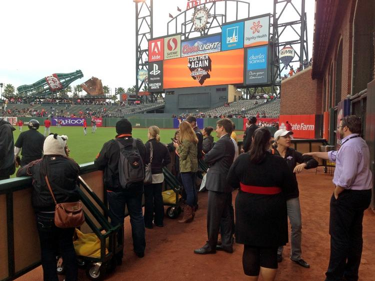 The Bullpen, which is part of AT&T Park's new Gotham Club.