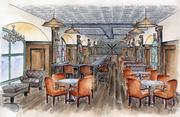 An artists rendering of The Clubhouse, part of AT&T Park's new Gotham Club.