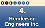 No. 4 Henderson Engineers Inc.  Local Professional Engineers: 126 Location: Lenexa For more information, check out the 2014 top engineering firms available to KCBJ subscribers.