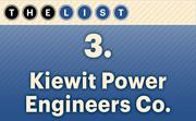 No. 3 Kiewit Power Engineers Co.  Local Professional Engineers: 162 Location: Lenexa For more information, check out the 2014 top engineering firms available to KCBJ subscribers.