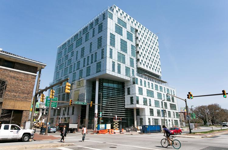 The new Johns and Frances Angelos Law Center at the University of Baltimore.