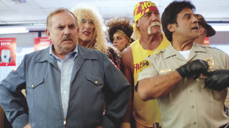 From left, Cliff, Dee Dee Snider, the Hulkster and Ponch all helped GSD&M pull off a 60-second ad for Radio Shack.