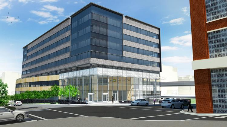 A rendering of Be the Match's new headquarters.