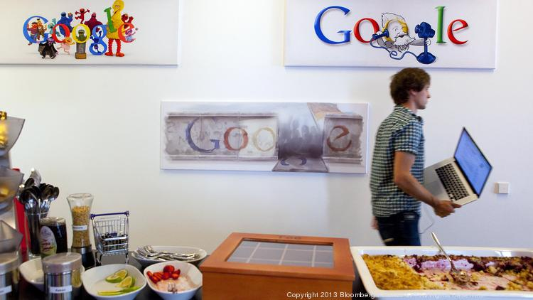 Inside a Google office.