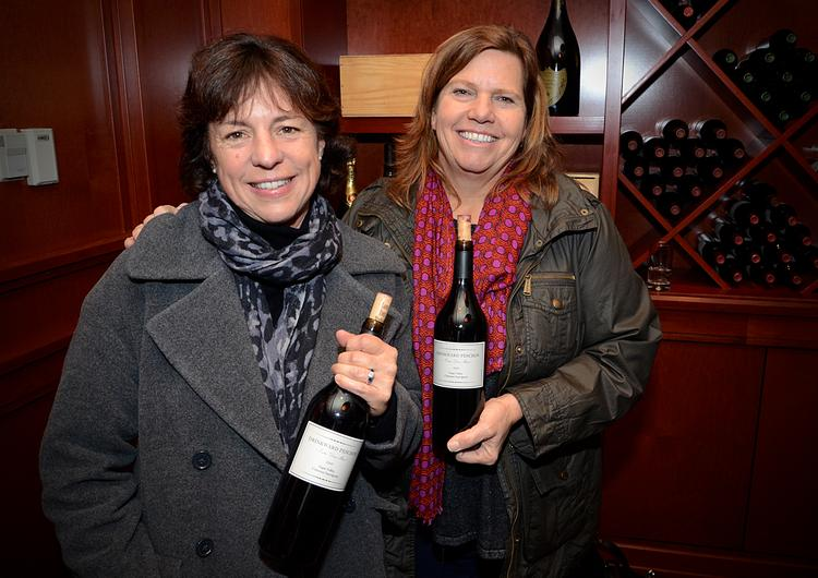 """Francoise Peschon and Lisa Drinkward of the St. Helena, Calif.-based winery, Drinkward Peschon. Their Entre Deux Méres Cabernet Sauvignon literally translates from the French words """"Between Two Mothers."""" The 2009 Cabernet retails for $60 a bottle."""