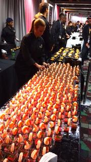 Shrimp anyone? At the NFL's pre game Tailgate party there was plenty.