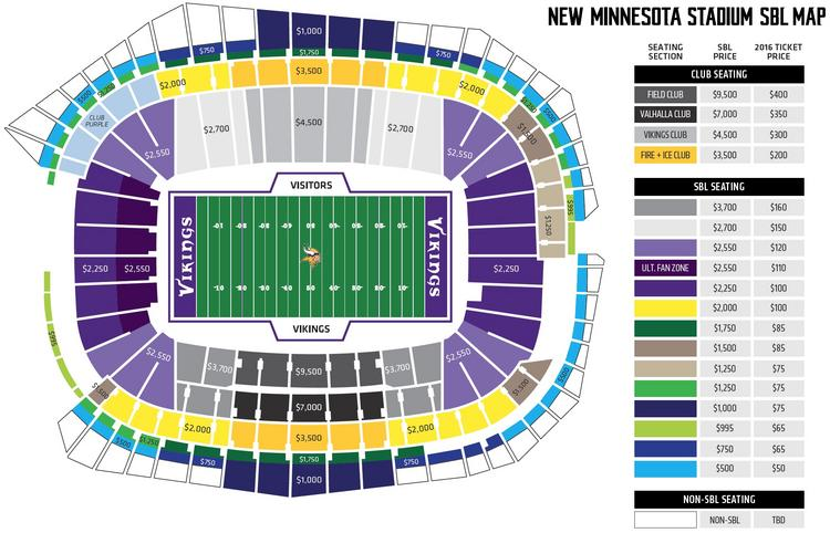 Vikings Detail Season Ticket Seat License Fees Video