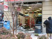 An SUV crashed into a CVS in downtown Baltimore on Friday.
