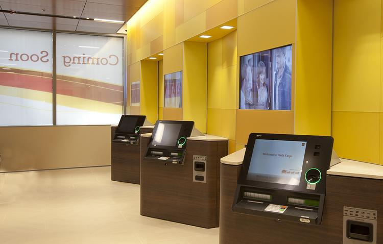 Wells Fargo customers can access advanced ATMs around the clock in the bank's neighborhood store concept.