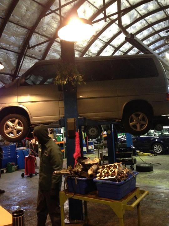 Green Drop Garage's team hustled into their Southeast Portland space Friday despite the treacherous road conditions.