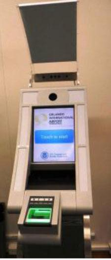 International travelers will begin using new self-service, biometric visa kiosks at Orlando International Airport.